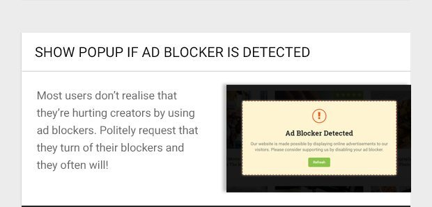Most users don't realise that they're hurting creators by using ad blockers. Politely request that they turn of their blockers and they often will!