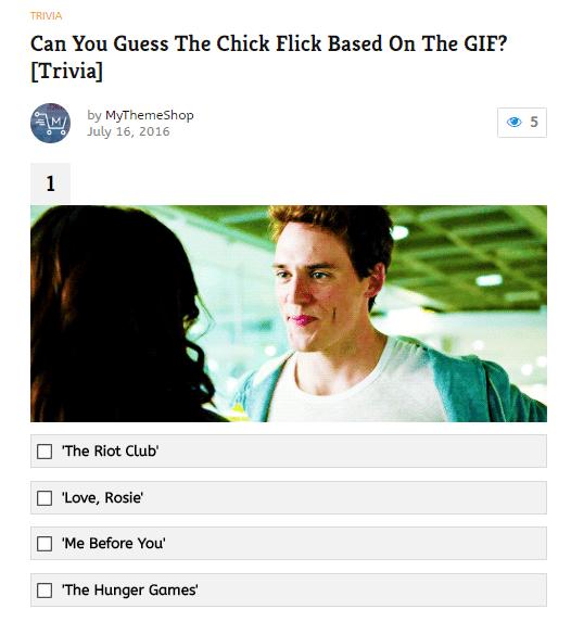 Trivia Quiz Example