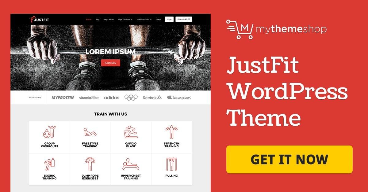 Justfit v2.1.10 - Mythemeshop Health WordPress Theme