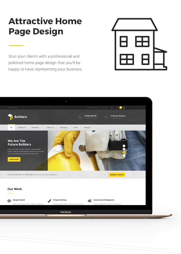 Attractive Home Page Design