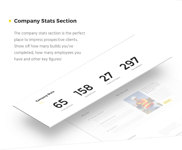 Company Stats Section