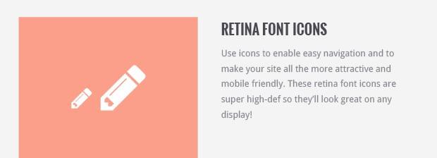 Retina Font Icons