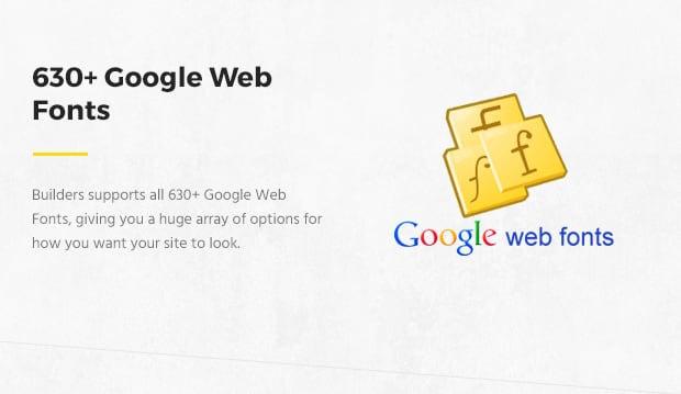 630 Google Web Fonts