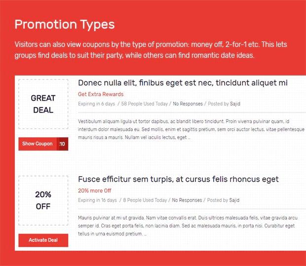 Promotion Types
