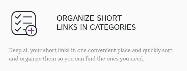 Organize Short Links in Categories