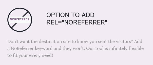 Option to Add Rel=NoReferrer