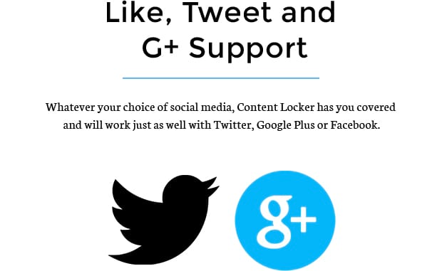 Like, Tweet and G+ Support