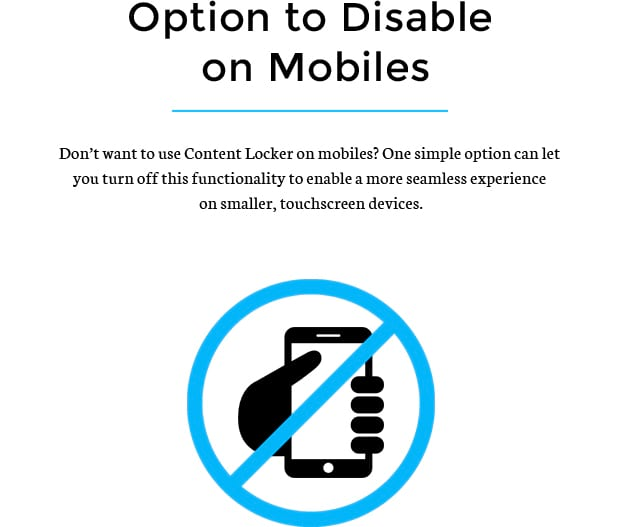 Option to disable on Mobiles