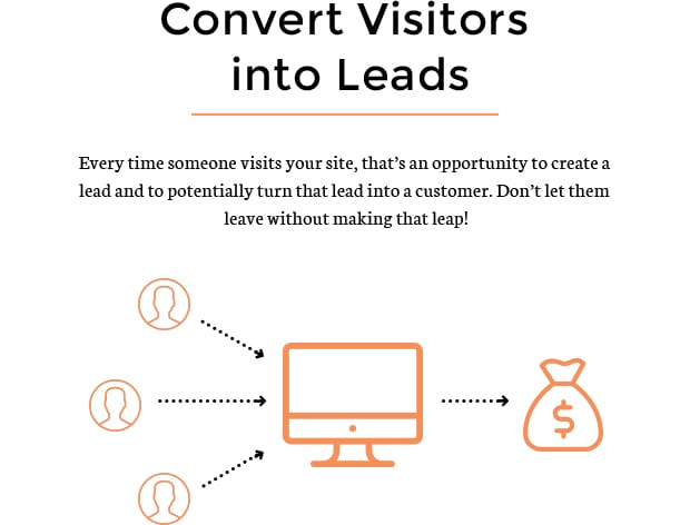 Convert Visitors into Leads