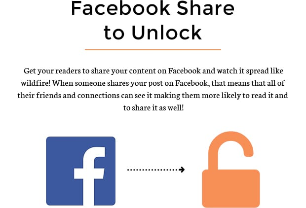 Facebook Share to Unlock