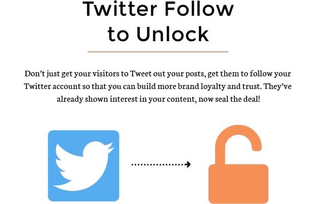Twitter Follow to Unlock