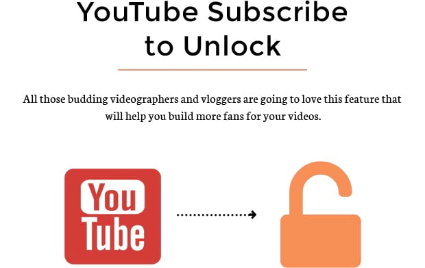 YouTube Subscribe to Unlock