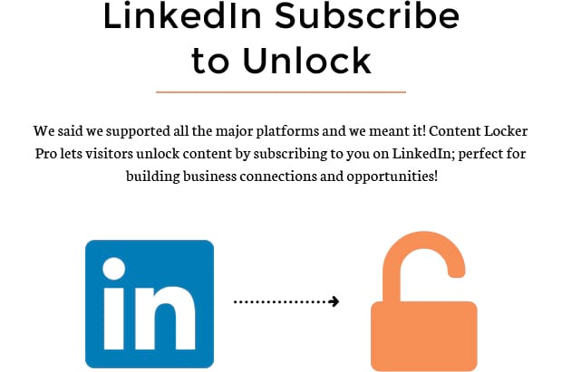 LinkedIn Subscribe to Unlock