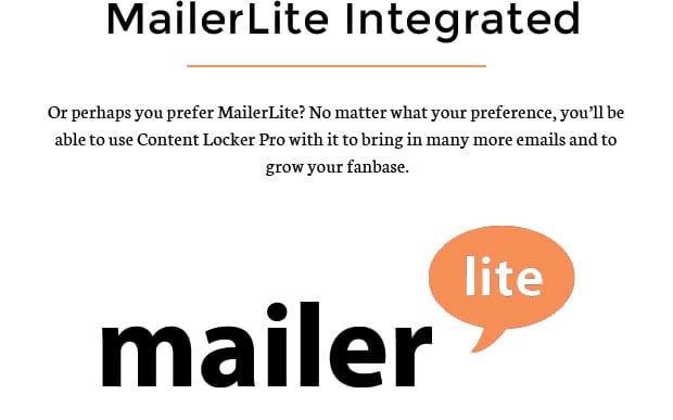 MailerLite Integrated