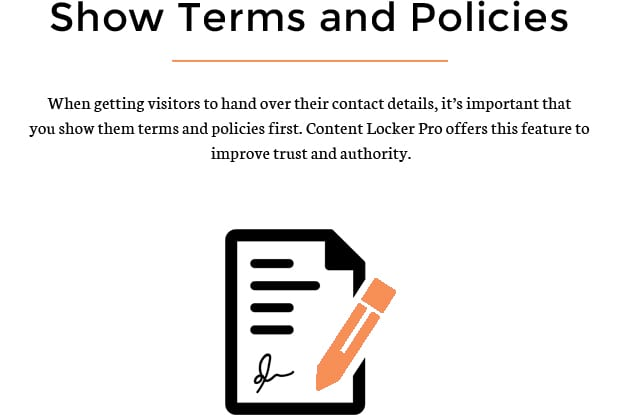 Show Terms and Policies