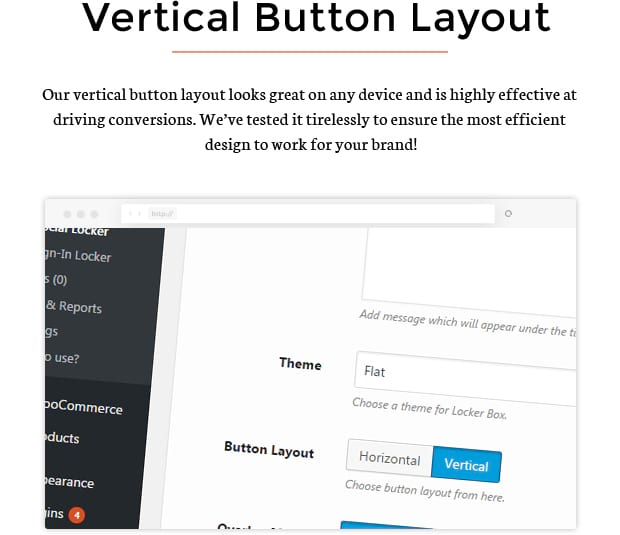 Vertical Button Layout