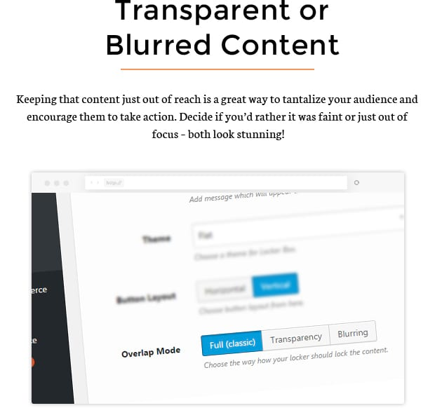 Transparent or Blurred Content