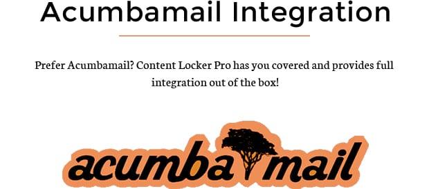 Acumbamail Integration