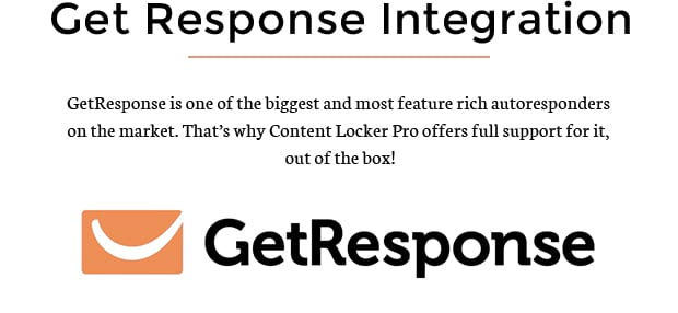 Get Response Integration