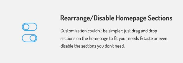 Rearrange Disable Homepage-Sections