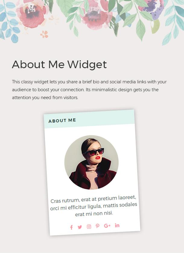 About Me Widget