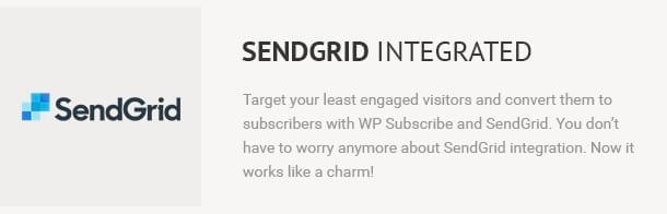 SendGrid Integrated
