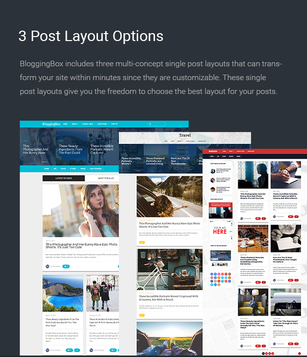 3 Post Layout Options