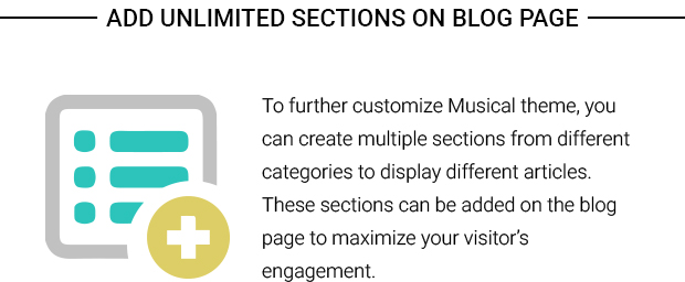 Add Unlimited Sections on Blog Page