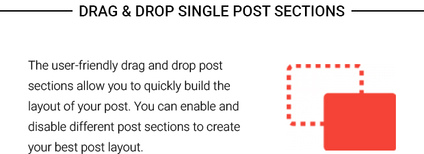 Drag n Drop Single Post Sections