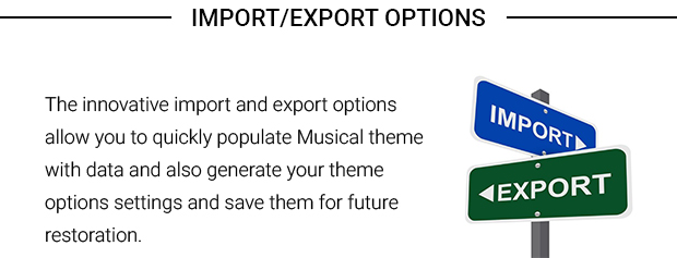 Import Export Options