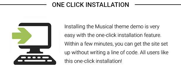 One Click Installation