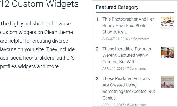 12 Custom Widgets