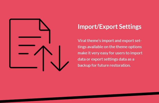 Import Export Settings