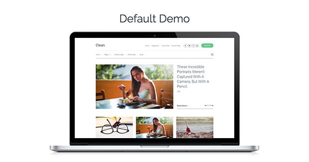 Clean Theme Default Demo