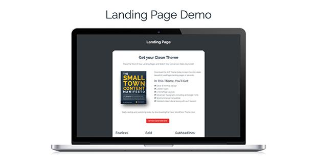 Clean Theme Landing Page Demo