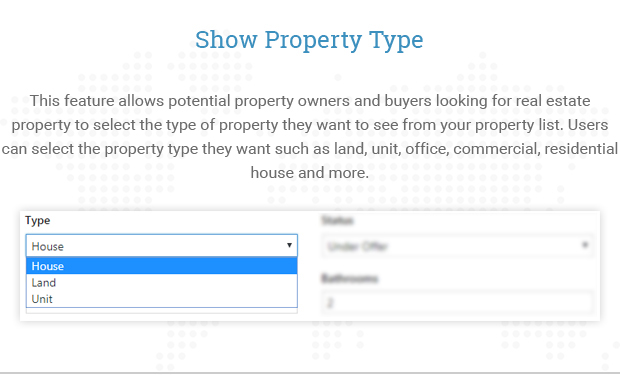 Show Property Type