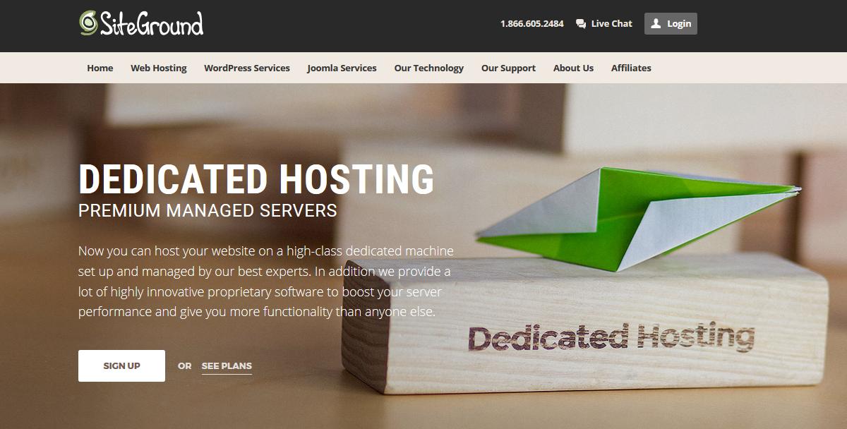 SiteGround Dedicated Hosting Servers