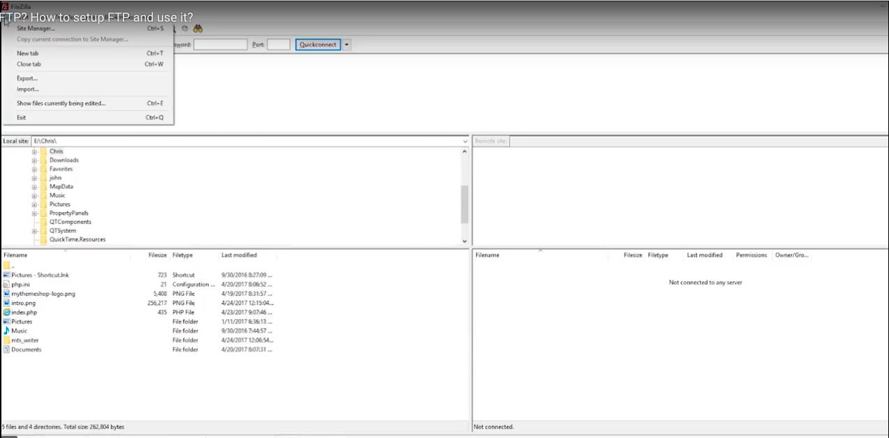 FileZilla-Site-Manager