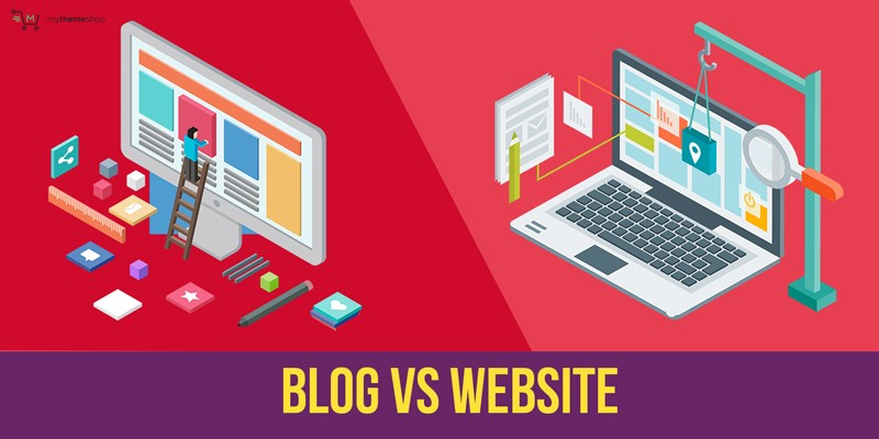 difference between blog and website