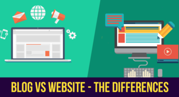 blog vs website header
