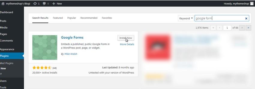 install-google-forms-plugin-embed-google-form-wordpress