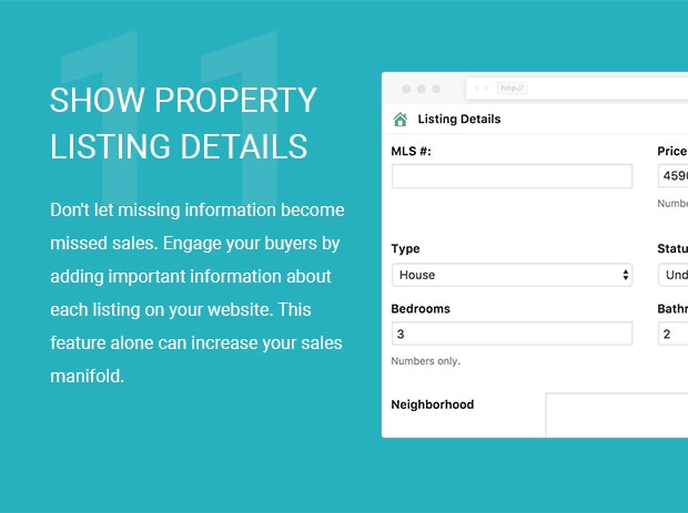 Show Property Listing Details