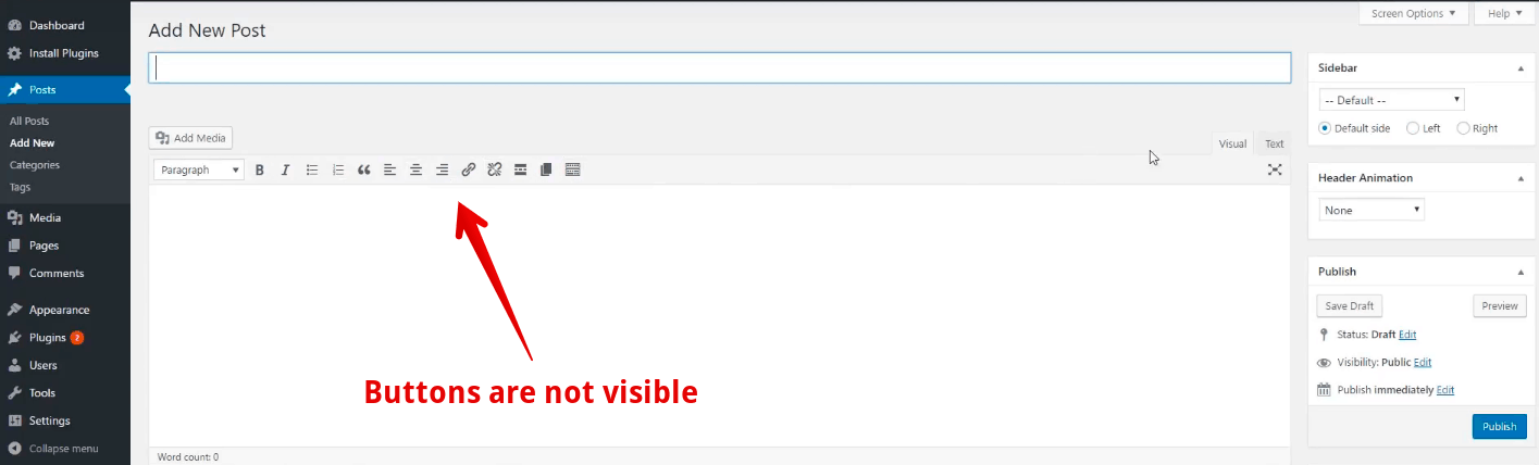 How-to-fix-white-text-and-missing-buttons-in-WordPress-visual-editor-buttons-are-not-visible