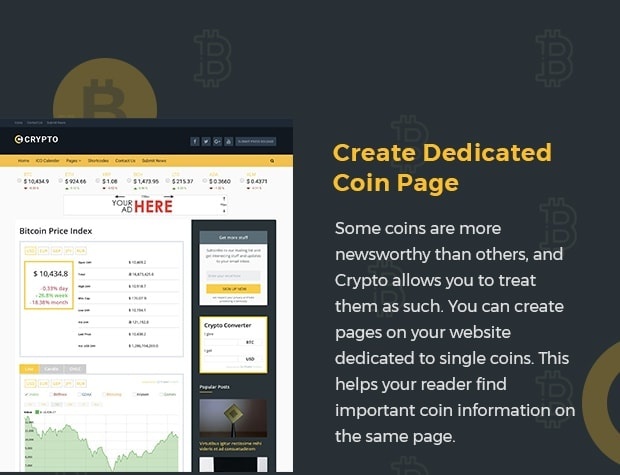 Create Dedicated Coin Page