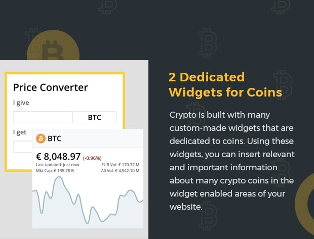 2 Dedicated Widgets for Coins