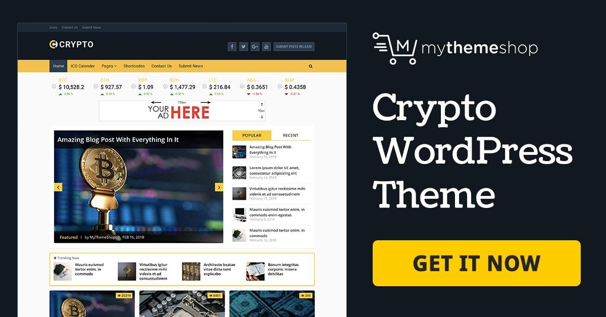 Crypto - A Bitcoin & Cryptocurrency WordPress Theme