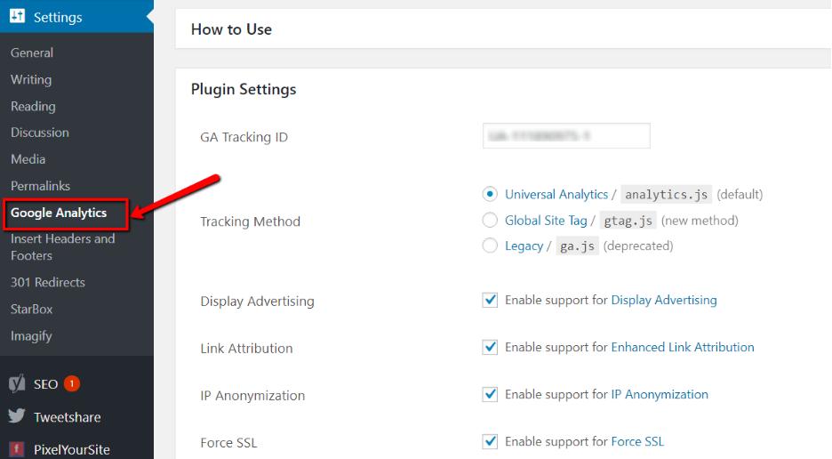 google-analytics-plugin-setting