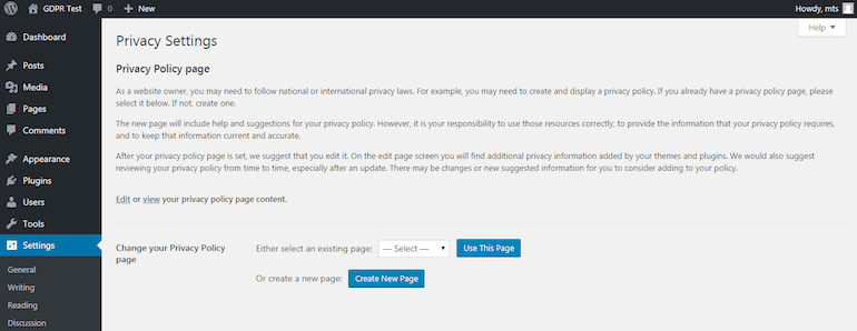 create-privacy-policy-page