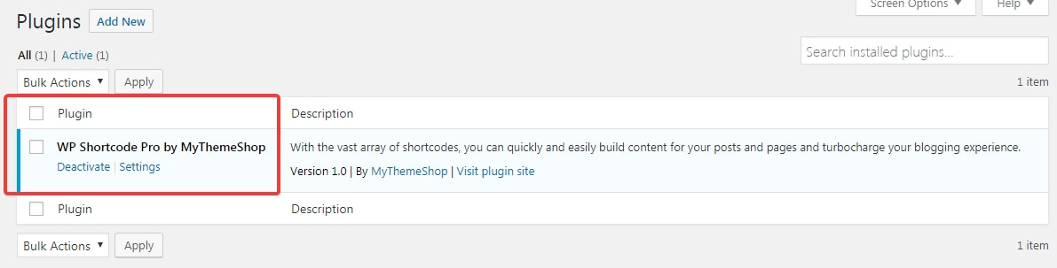 make sure wp shortcode pro is installed