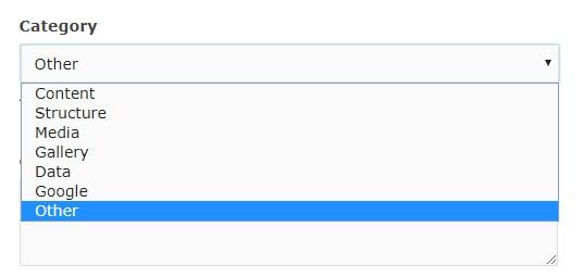 shortcode category